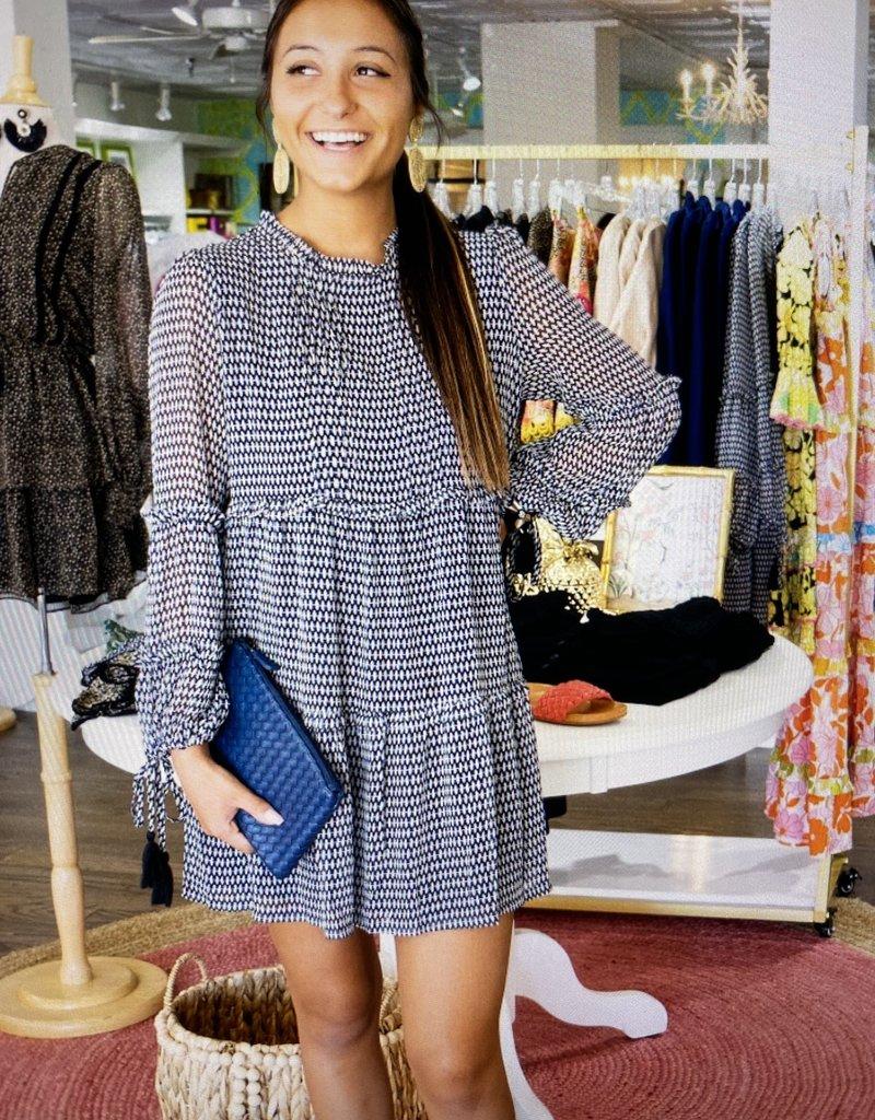 allison NY SA212003 Tiered panel dress