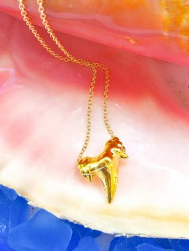24KT GOLD DIPPED SHARK TOOTH NECKLACE