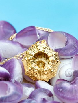 24KT GOLD DIPPED SEA URCHIN NECKLACE