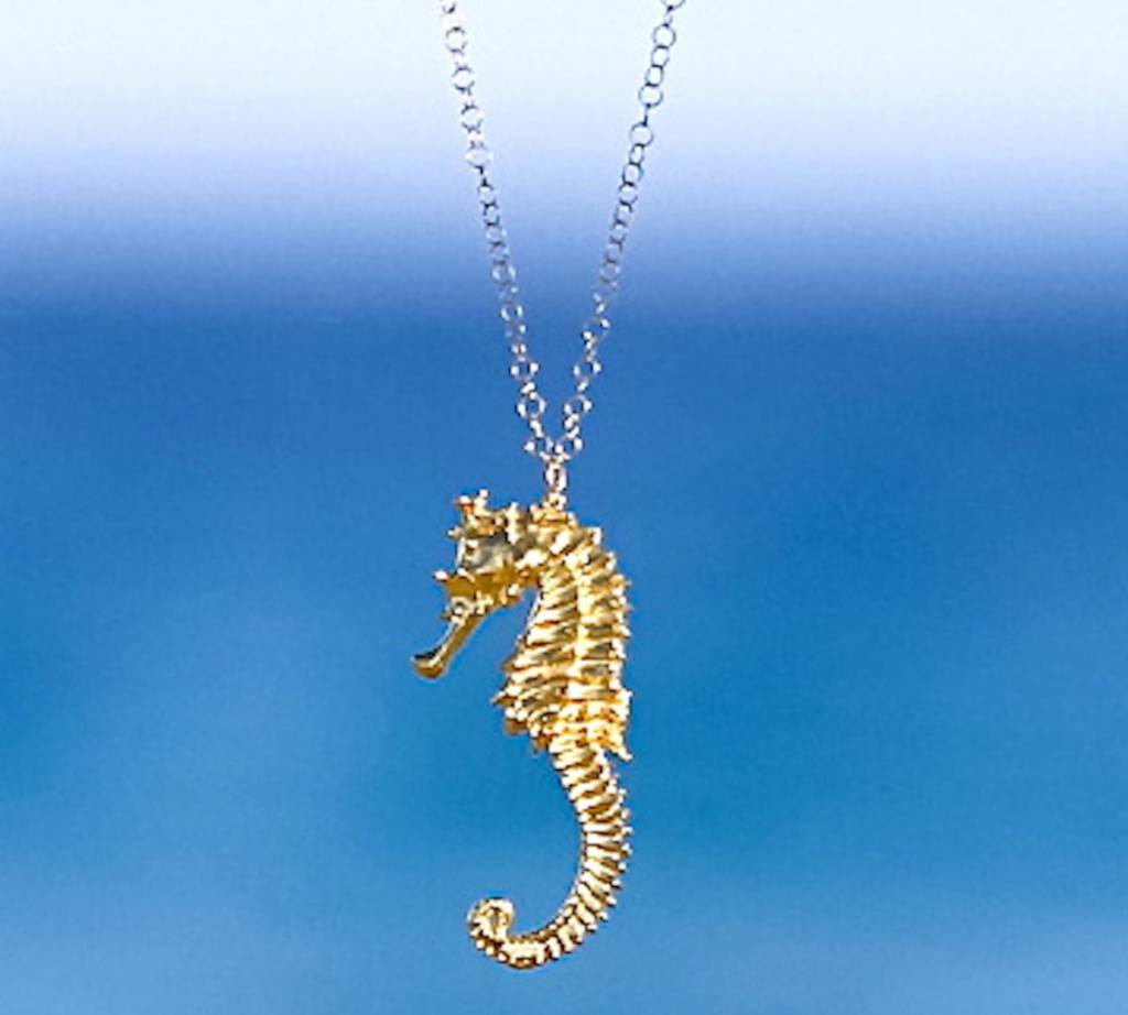 SASHA LICKLE SASHA LICKLE 24KT GOLD DIPPED SEAHORSE NECKLACE