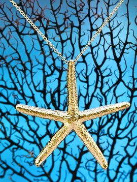 SASHA LICKLE 24KT GOLD DIPPED STARFISH NECKLACE