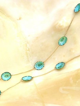 GREEN LIMPET SHELL NECKLACE