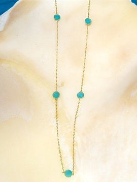 SASHA LICKLE SEAFOAM QUARTZ NECKLACE
