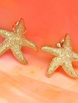 SASHA LICKLE GOLD STARFISH STUD EARRINGS
