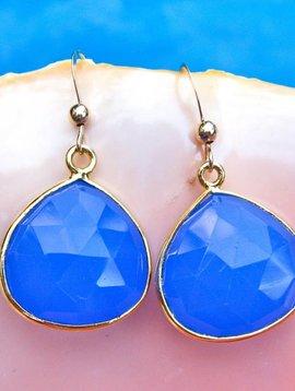 BLUE ONYX DROP EARRINGS