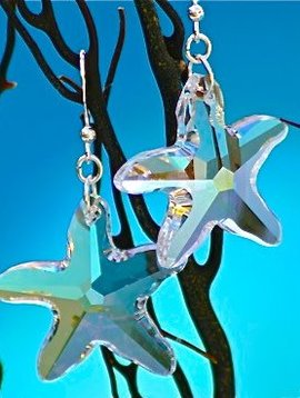 SASHA LICKLE SWAROVSKI CRYSTAL STARFISH EARRINGS