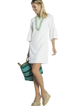 SAIL TO SABLE BELL 3/4 SLEEVE SHIFT DRESS