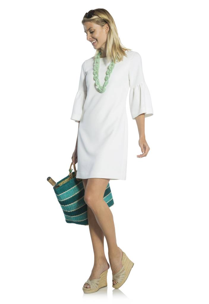 BELL 3/4 SLEEVE SHIFT DRESS