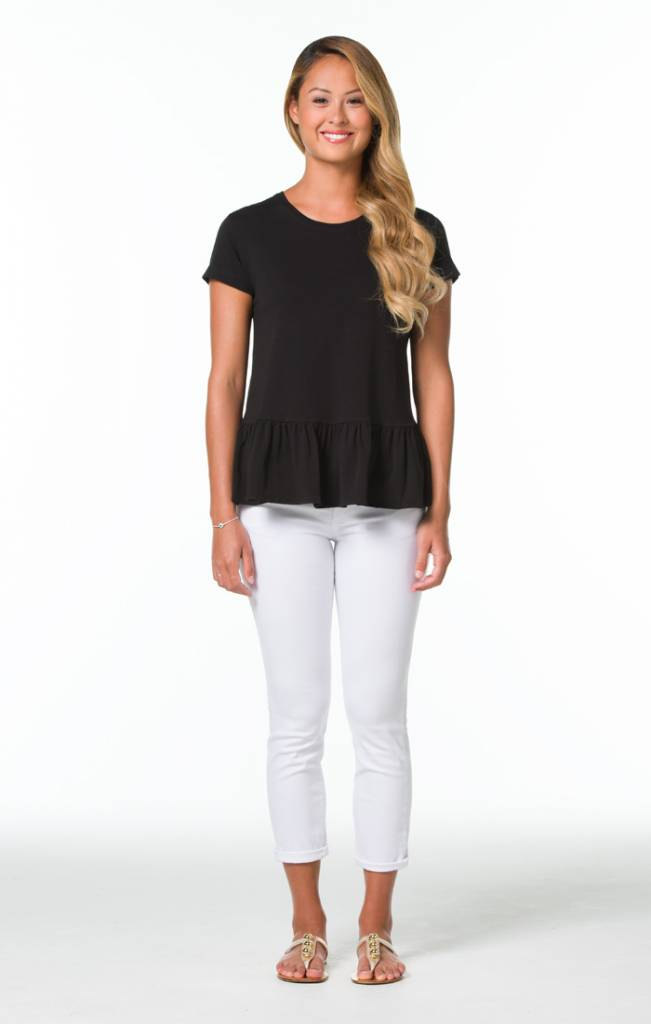 TORI RICHARD PIMA KNIT PAULINE TOP