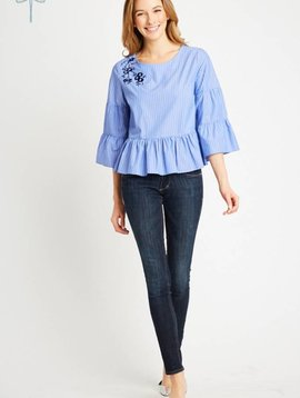 SINGLE STRIPE CAMERON TOP