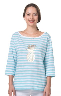 TORI RICHARD PINEAPPLE TEE