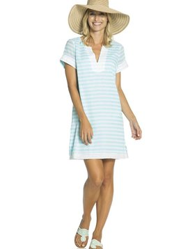 CRINKLE COTTON STRIPE DRESS