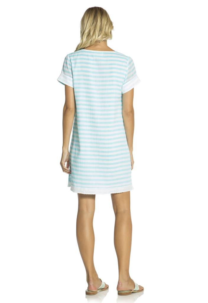 SAIL TO SABLE CRINKLE COTTON STRIPE DRESS