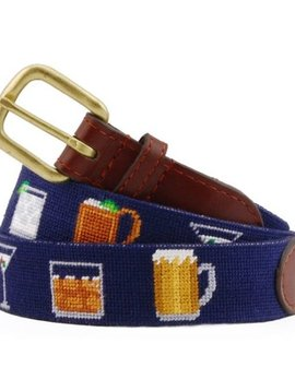 SMATHERS AND BRANSON GENTLEMEN'S DRINKS NEEDLEPOINT BELT