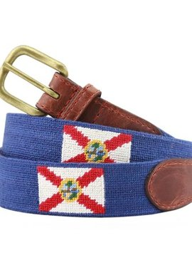 SMATHERS AND BRANSON FLORIDA FLAG NEEDLEPOINT BELT