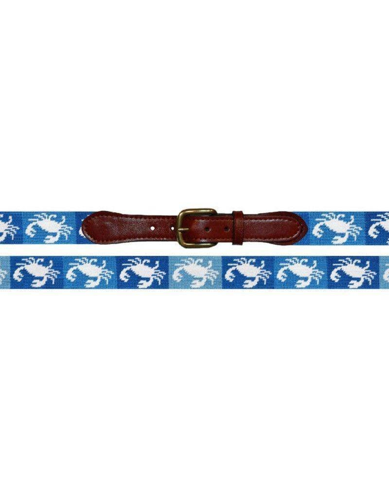 SMATHERS AND BRANSON Patchwork Crab Needlepoint Belt