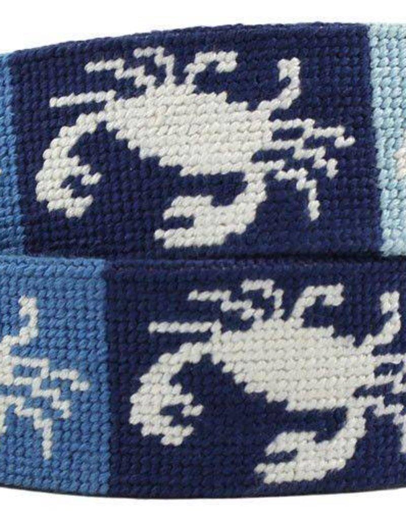 Patchwork Crab Needlepoint Belt