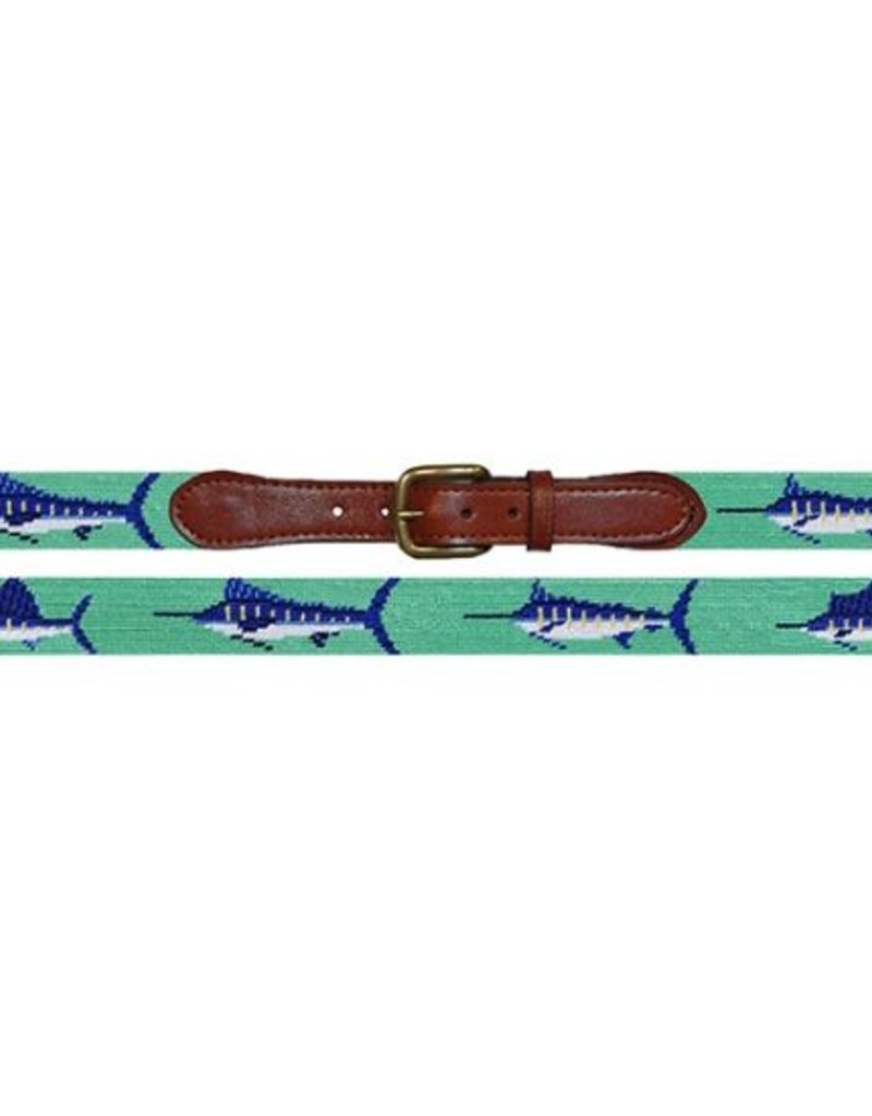 SMATHERS AND BRANSON Bill Fish Needlepoint Belt