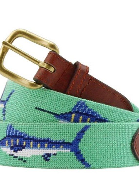 SMATHERS AND BRANSON BILL FISH NEEDLEPOINT BELT