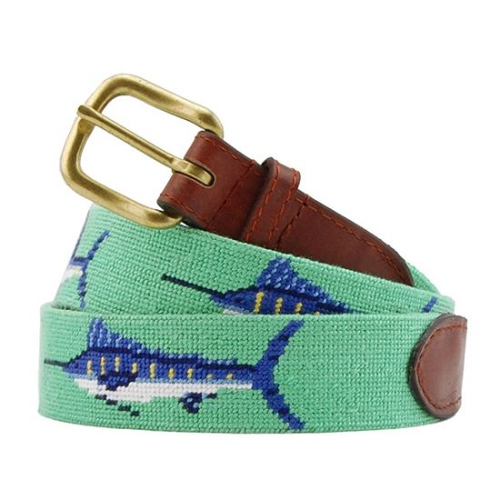 Bill Fish Needlepoint Belt