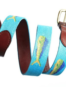 MAHI MAHI NEEDLEPOINT BELT