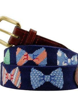 SMATHERS AND BRANSON BOW TIE NEEDLEPOINT BELT