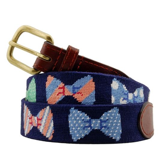 Bow Tie Needlepoint Belt