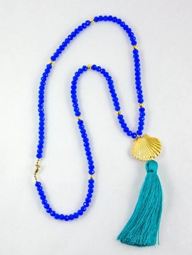 SASHA LICKLE BLUE ONYX TASSEL NECKLACE