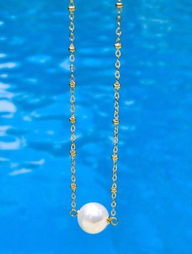 SASHA LICKLE FLOATING PEARL NECKLACE