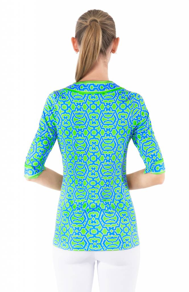 Split Neck Tunic -  Rio Gio Tunic