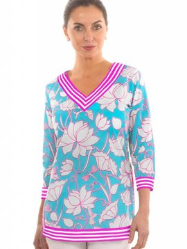 GRETCHEN SCOTT COTTON TUNIC LOVELY LOTUS