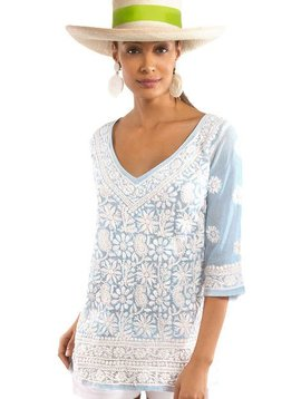 GRETCHEN SCOTT HAND EMBROIDERED TUNIC - COPACABANA