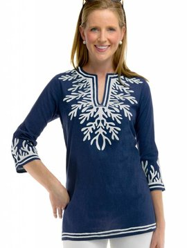 GRETCHEN SCOTT COTTON EMBROIDERED TUNIC - THE REEF