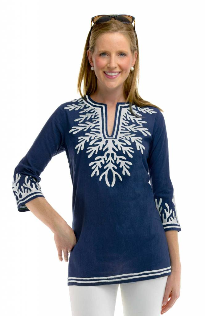 COTTON EMBROIDERED TUNIC - THE REEF