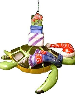 cape shore Ornament -Turtle w/Presents