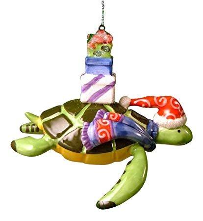 cape shore Ornament -Turtle w/Presents