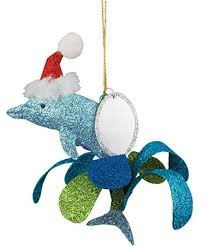 cape shore Ornament - Glitter Metal Dolphin