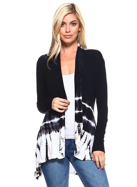 Tie-Dye Cardigan Multi-Colored