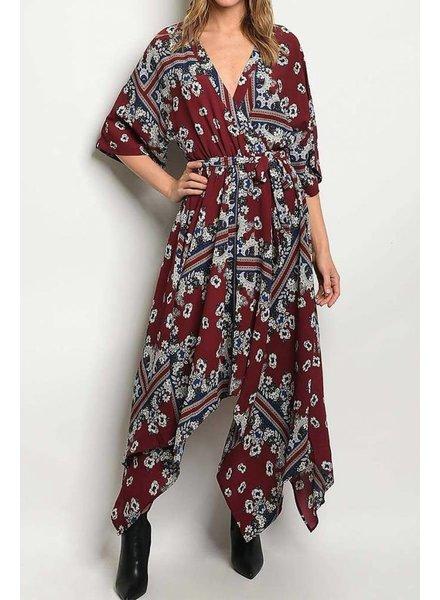 Sleeve Surplice Dress