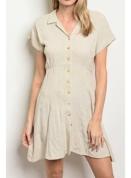 Short Sleeve Button Down Tunic