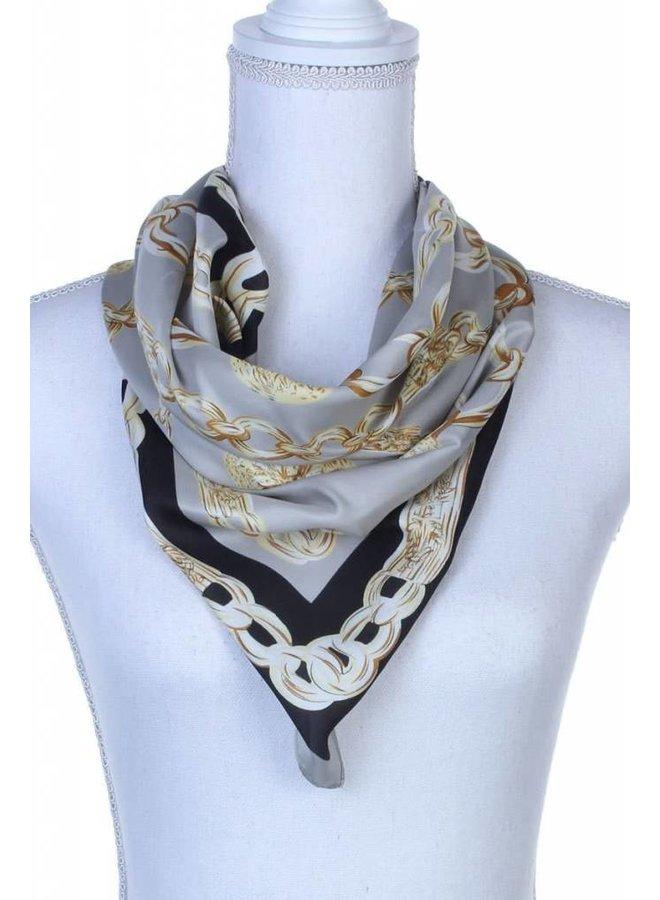 Chain Print Silk Scarf -1