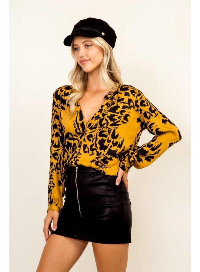 Golden Cheetah Blouse