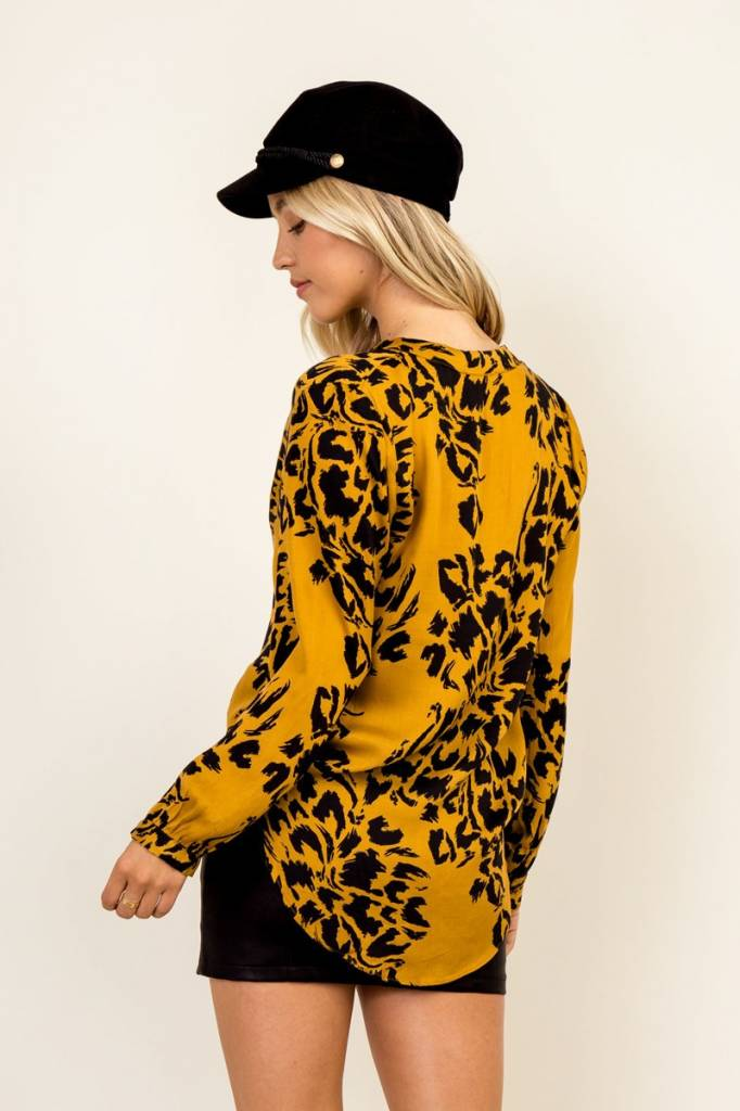 Golden Cheetah Blouse