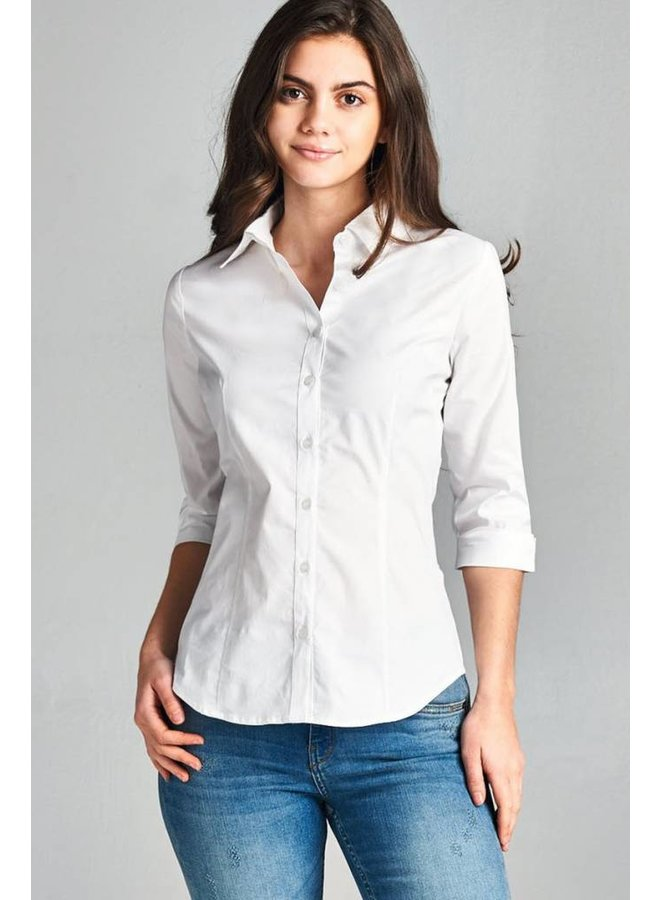 Collar Button Up Blouse