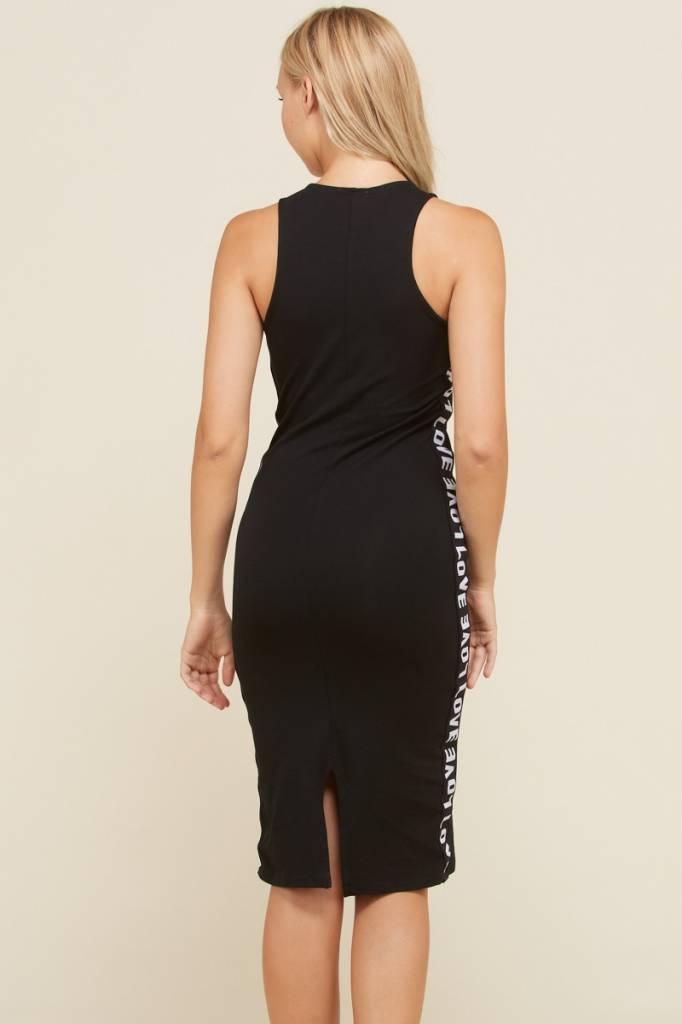 Side Tape Detailed Dress