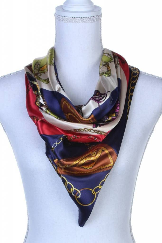 Purse Pattern Silk Scarf