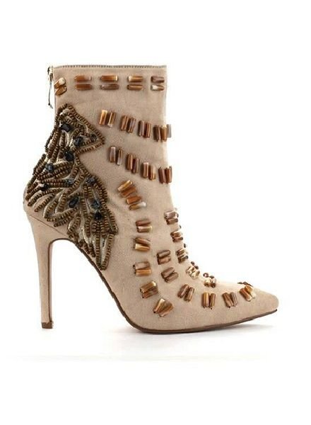 Embellished High Heel Bootie