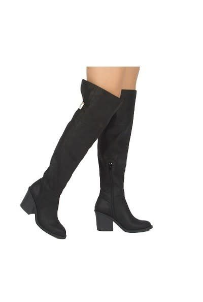 Black Matte Over the Knee Boots
