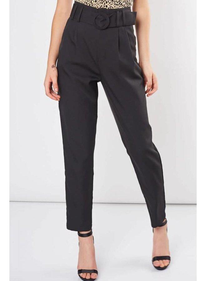 Black Semi-formal Pants with Belt