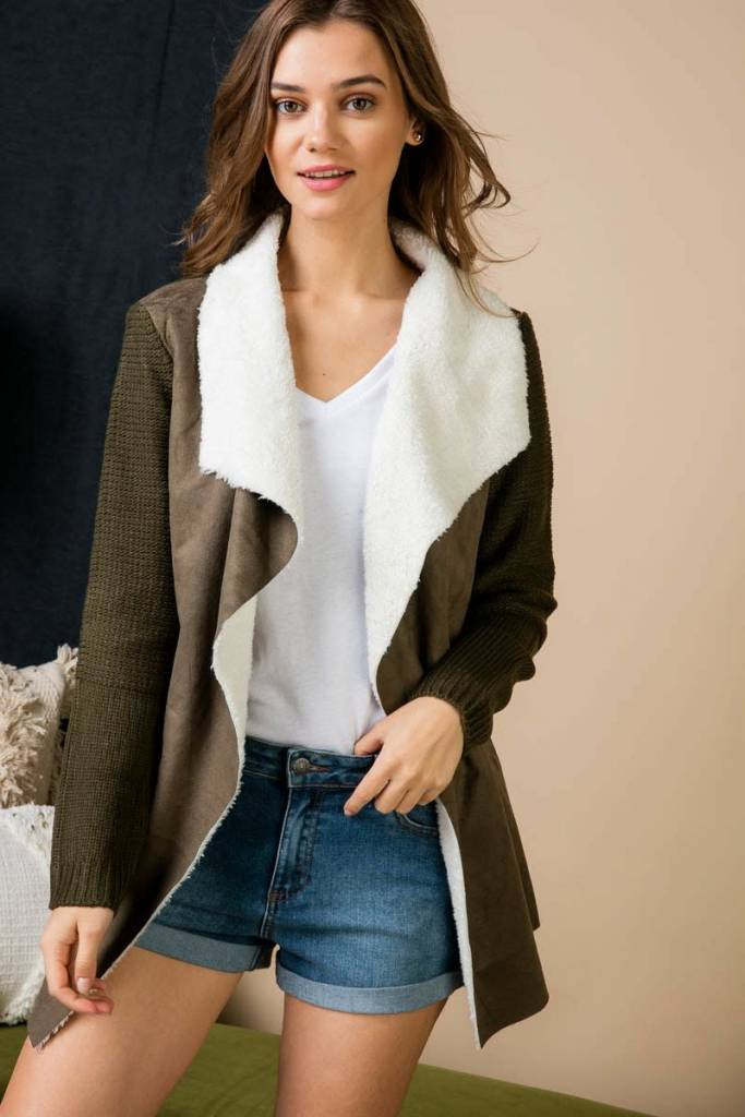 Lapel Coat Cardigan